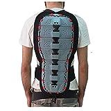 Cruizer Rückenprotektor für Motorrad, belüftet, atmungsaktiv, abnehmbar, waschbar, Klettverschluss, verstellbare Träger