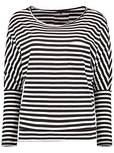 O 'Neill Damen Gestreift Top Essentials Long Sleeve Tees XL BLACK AOP W/ WHITE