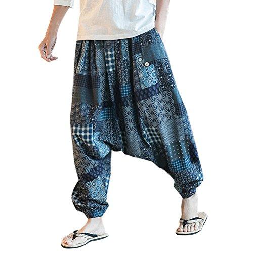 Zhuhaitf Aladin Pants Hippie Hose Haremshose Herren Damen Yoga Hose aladinhose Männer Harem Hippie Pants thai pants Long Trousers