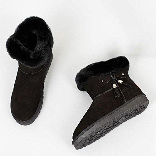 Stivali da neve invernali Stivali a fondo piatto caldi Stivali casual da donna , 40 42