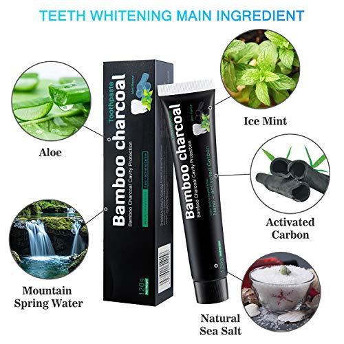 Zoom IMG-1 dentifricio carbone attivo sbiancante per