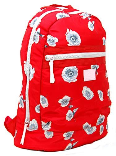 Jack Wills Rucksack Heverhill aus Polyester mit rotem Blumenmuster