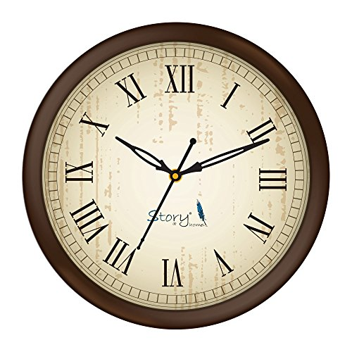 Story@home 10-inchRound Shape Wall Clock with Glass for Home / Kitchen /...