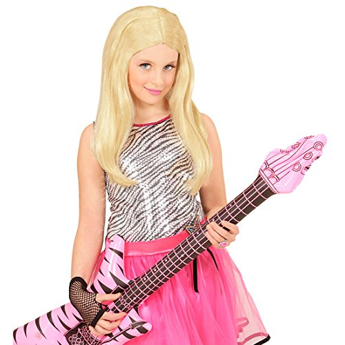 e Popstar Rockstar Kinder Perücke Hannah Montana Perücke Barbie Faschingsperücke blond (Blonde Perücke Für Kinder)
