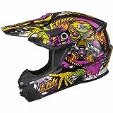 THH TX-15# 2 Motocross-Helm, Größe S, in schwarz/gelb/pink