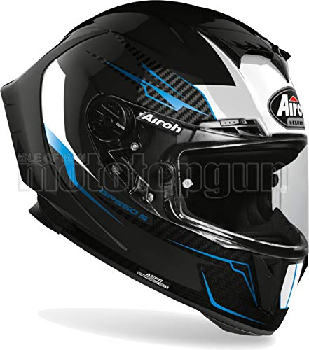 AIROH GP55V17 CASCO MOTO INTEGRALE NEGRO GLOSS GP550-S