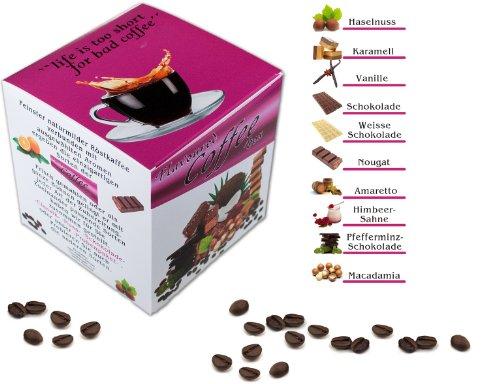 Aromatisierter Kaffee, Probierset 10 x 100 g, Ganze Bohne zum verschenken als Geschenk, frisch...