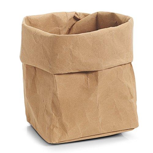 zeller-krempel-de-korbchen-lederhaptik-papier-differentes-tailles-papier-12-x-12-x-25-cm