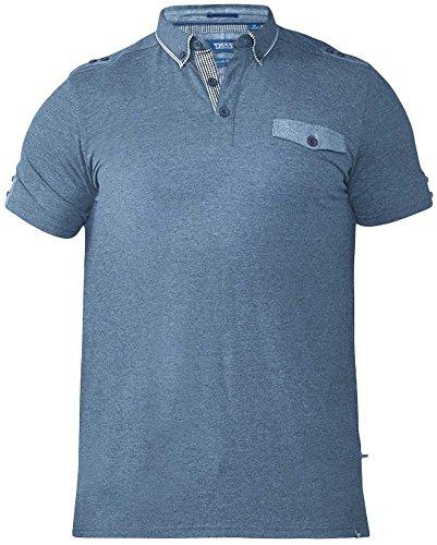 DUKE D555 Herren Poloshirt Blau
