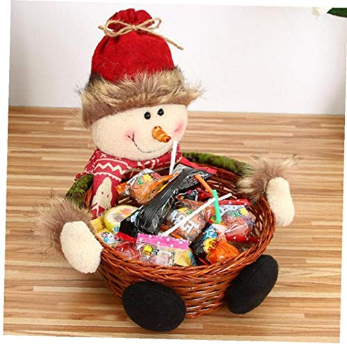 Angoter Nueva Navidad Almacenamiento Caramelo Cesta