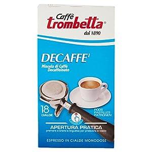 Caffè Trombetta, Caffè in Cialda ESE, Decaffeinato - 6 Confezioni da 18 Cialde (Totale 108 Cialde)