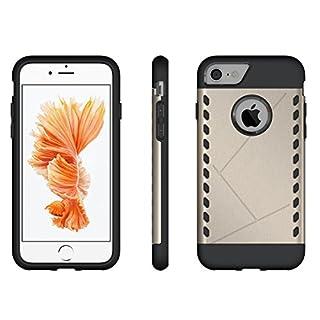 SDB iPhone 8/iPhone 7Armor Case, Back Cover Hybrid All Inclusive stoßfest TPU + PC Easy Grip Design Aegis Handy Displayschutzfolie Shell Mehrfarbig Goldfarben