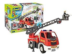 Revell 00823 - Camión de Bomberos con Escalera giratoria (Escala 1:20), Color Rojo