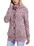 Aleumdr Cappotto Donna con Cappuccio Maglioni Donna Due Tasche Maglioni Donna Invernali con Cerniera e Bottoni Cardigan Donna