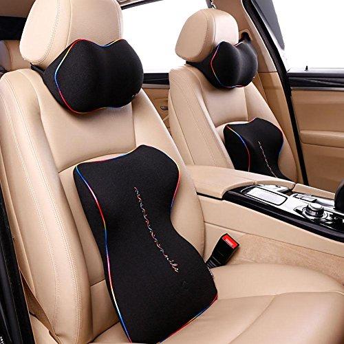 Taillenkissen / Kopfstütze HuanLeBao Arbeiten Sie neuestes ergonomisches Entwurfs-Nackenkissen-Sitzkissen für Auto / Haus / Büro um , Black