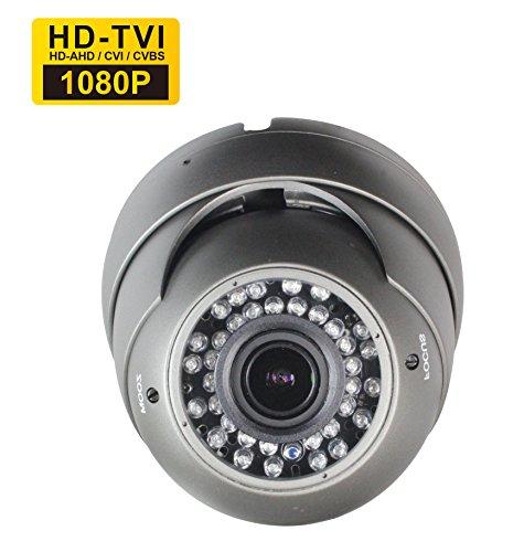 Galleria fotografica SKYVIEW Full HD 1080P Hybrid CCTV Camera, TVI / CVI / AHD / CVBS 4 in 1, 2. 8-12mm Varifocal Lens, 36 IR LEDs, Day Night Vision IR Cut, Indoor/Outdoor IP66 Weatherproof Surveillance Security CCTV System -Default TVI Output