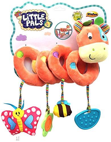 winfun- Espiral la Jirafa Patch, Little Pals, Color Naranja (CPA Toy Group 7300131)