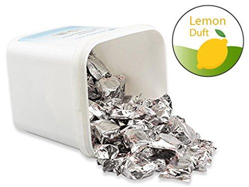 Preisvergleich Produktbild 100 St. WcWunder 3-Phasen - Reinigungstabs im Vorratseimer mit Lemon Duft