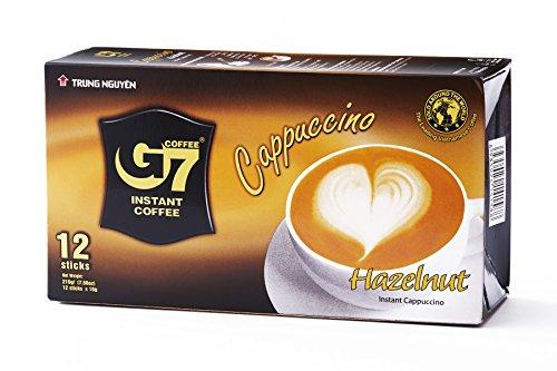 Probierangebot! Trung Nguyen G7 Instant Cappuccino mit Haselnussgeschmack 216g