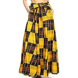 Sakkas 16317 - Asma Convertible Tradicional Cera de impresión Ajustable Correa Maxi Falda | Vestido - 1064-verde/Negro-étnico - OS