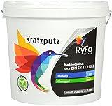 RyFo Colors Kratzputz 2mm, 25kg - Profi-Außenputz, Edelputz, Strukturputz, Fertigputz, witterungsbeständig, abtönbar, zertifiziert