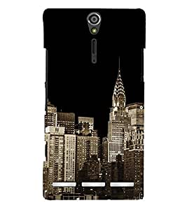 City Scape 3D Hard Polycarbonate Designer Back Case Cover for Sony Xperia SL :: Sony Xperia S :: Sony Xperia SL LT26I LT26ii