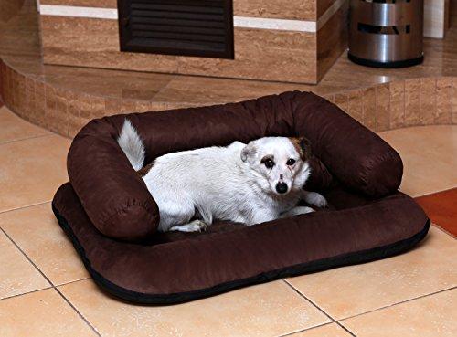 tierlando® CH5-05 CHARLY Hundesofa Hundebett Velours XL 120x90cm creme - 2