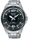 Pulsar Herren Analog Solar Uhr mit Edelstahl Armband PX3127X1