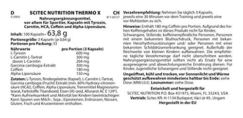 Zoom IMG-1 scitec nutrition thermo x 100