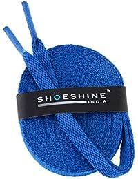 Shoeshine India blue sport shoe lace flat shoelace (Set of 2 Pairs) Size S-90cm & 7mm W