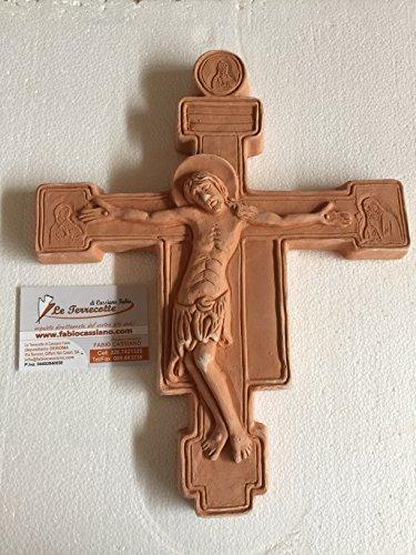 le terrecotte di cassiano fabio Kruzifix aus Terrakotta 30cm