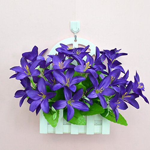 Emulation Kit (ALLDOLWEGE Einfach personalisierte Holzarbeiten emulation versenkt Kunststoff vergossen Blumen emulation Blumentopf light wall Swing in exquisiten Garten decorationThatPurple Lily Kit+Haken)
