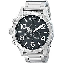 Nixon Reloj Cronógrafo de Cuarzo para Hombre con Correa de Acero Inoxidable – 1000 A083