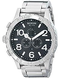 Nixon 1000 A083 - Reloj cronógrafo de caballero de cuarzo con correa de acero inoxidable plateada