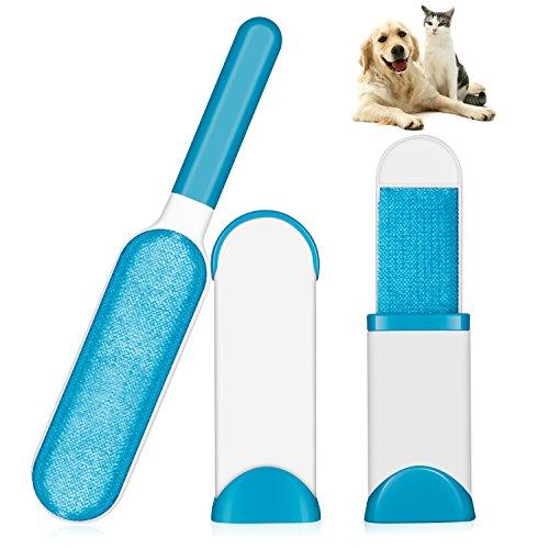 Hotchy Pet Pinsel, Fell & Fussel & Haar Entferner-Set mit selbstreinigender Basis für Das Entfernen von Hunden- und Katzenhaar von Kleidung -