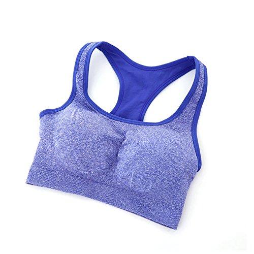 Wingogo Push-Up Soutien-gorge De Sport Femme Pour Yoga Fonctionnement Bleu