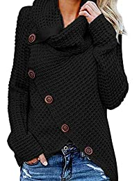 Dokotoo Femme Casual Pull à Manche Longue Sweater Simple S-XXL