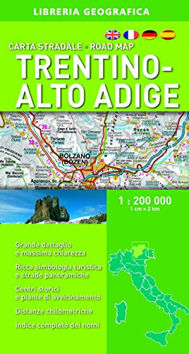 Trentino Alto Adige 1:200.000 (Carte stradali regionali d'Italia)
