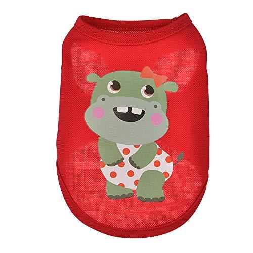 EUZeo Sommer Schöne Pet Kleidung Tiere Karikaturdruck Weste Dog Puppy Costumes Bekleidung Hündchen Haustierpullover Sweatshirt Kleiner Hund Hundeshirts Hundepullover