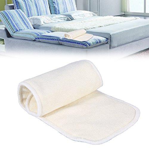 2 Pcs Stoffwindel Saugeinlagen, 4 Schichten Bambusfaser Adult Inkontinenz Tuch Windel Liner Windel Insert -