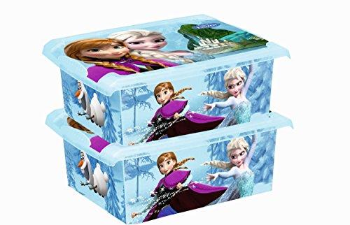 2x Caja para juguetes juguete caja Fashion Caja de Frozen 10L
