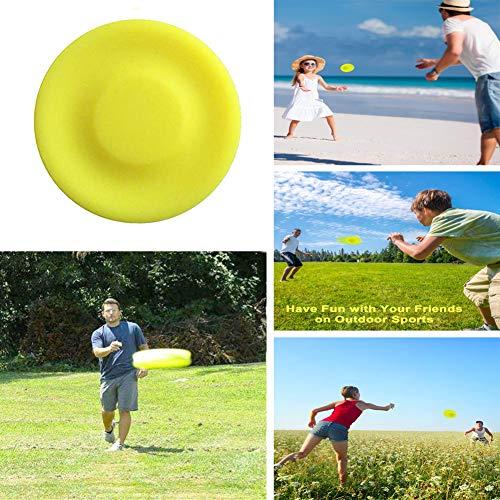 XUNKE 2019 Neueste Mini Frisbeescheibe Disc/ Kreative Handschub-UFO/Wurfscheiben Soft Eva Spielzeug Eltern Kind Zeit , Perfekter Spaß für Erwachsene, Kinder, Sport, Spiele & Outdoor (Hund Spielzeug Denken)