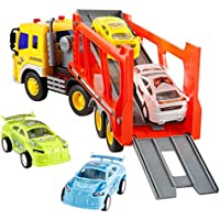 Trailer Set Children's Large Functional high powered strong power series carrier with Sound and Light Moving with Inertance Cars -Affordable Gift for your Little One(Random Car Color)