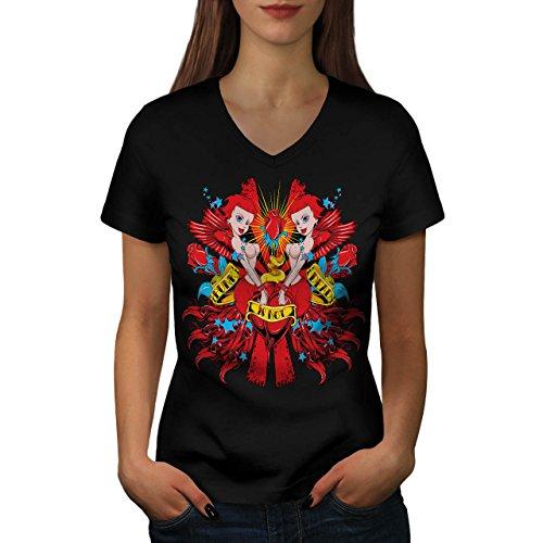 Punk ist Nicht Tot Sexy Meerjungfrau Damen XL V-Ausschnitt T-shirt | Wellcoda