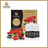 CIGMA 5 X 10ml E Liquid Gemischte Früchte 0mg (ohne Nikotin) Apfel   Blaubeere   Kirsche   Erdbeere   Wassermelone   Neue Formel mit nur hochwertigen Zutaten   Hergestellt für elektronische Zigaretten und E Shisha
