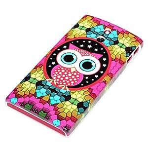 deinPhone Sony Xperia P LT22i HARDCASE Hülle Case Mosaik Eule Große Augen