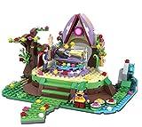 Bausteine Spielset Schneewittchen im Gläsernen Sag, Prinzessin und Prinz + Zwerg Minifigur, Konstruktionsspielzeug 326 Teile