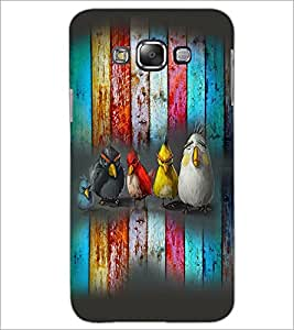 PrintDhaba Cartoons D-3987 Back Case Cover for SAMSUNG GALAXY E7 (Multi-Coloured)