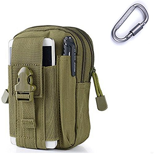 GADIEMENSS Hang Pocket Military Tactical EDC Utility Gadget Belt Waist Bag For iPhone Holster Outdoor Sports Hiking Camping Riding Running (Army (Army Gear Ranger)