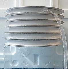 Idea Regalo - Nastro in Organza Bianco 10mm x 100mt